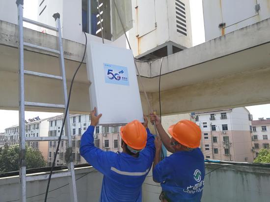 高温下的宜兴移动5G建设者:太阳不下山我们不撤退!