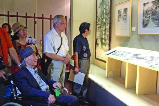 """94岁创作长卷""""寄畅园全景"""" 王木东百余幅国画捐出"""