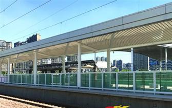 火车站南广场改造工程过半