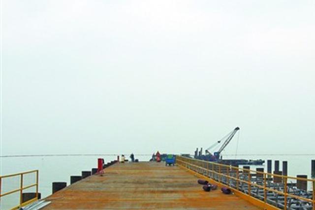 """马山段首个围堰和引桥建成   施工进入""""快车道"""""""