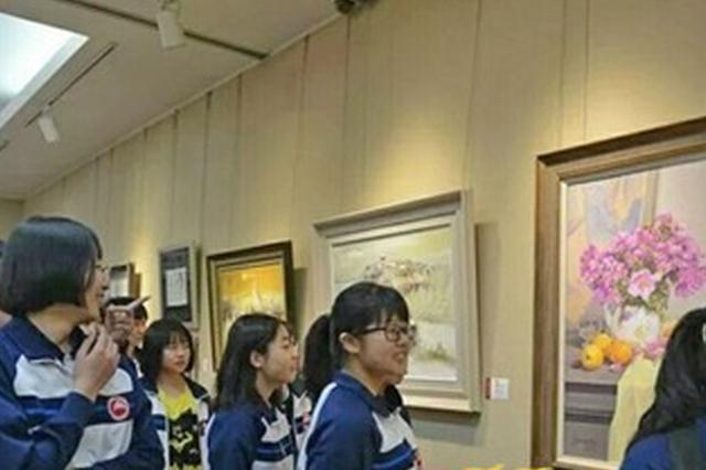 """""""普艺融通""""有成果? 太湖高级中学举行师生书画作品展"""