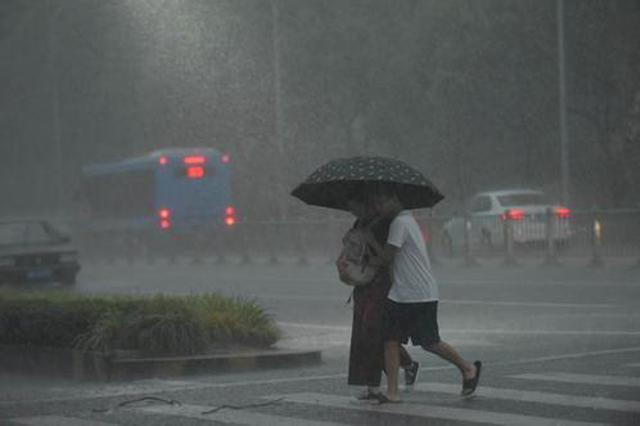 """受第18号台风""""温比亚""""影响 江苏大部分地区有明显风雨天气"""