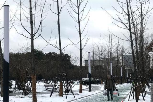 江苏多地普降大到暴雪 连云港东海积雪深度达10厘米