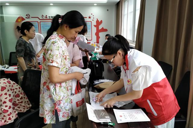 旺庄街道红十字会开展造血干细胞采集活动