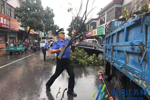"""迎战台风""""利奇马"""" 滨湖城管在行动"""