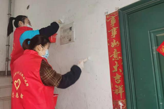 吴泰社区整治小广告美化环境