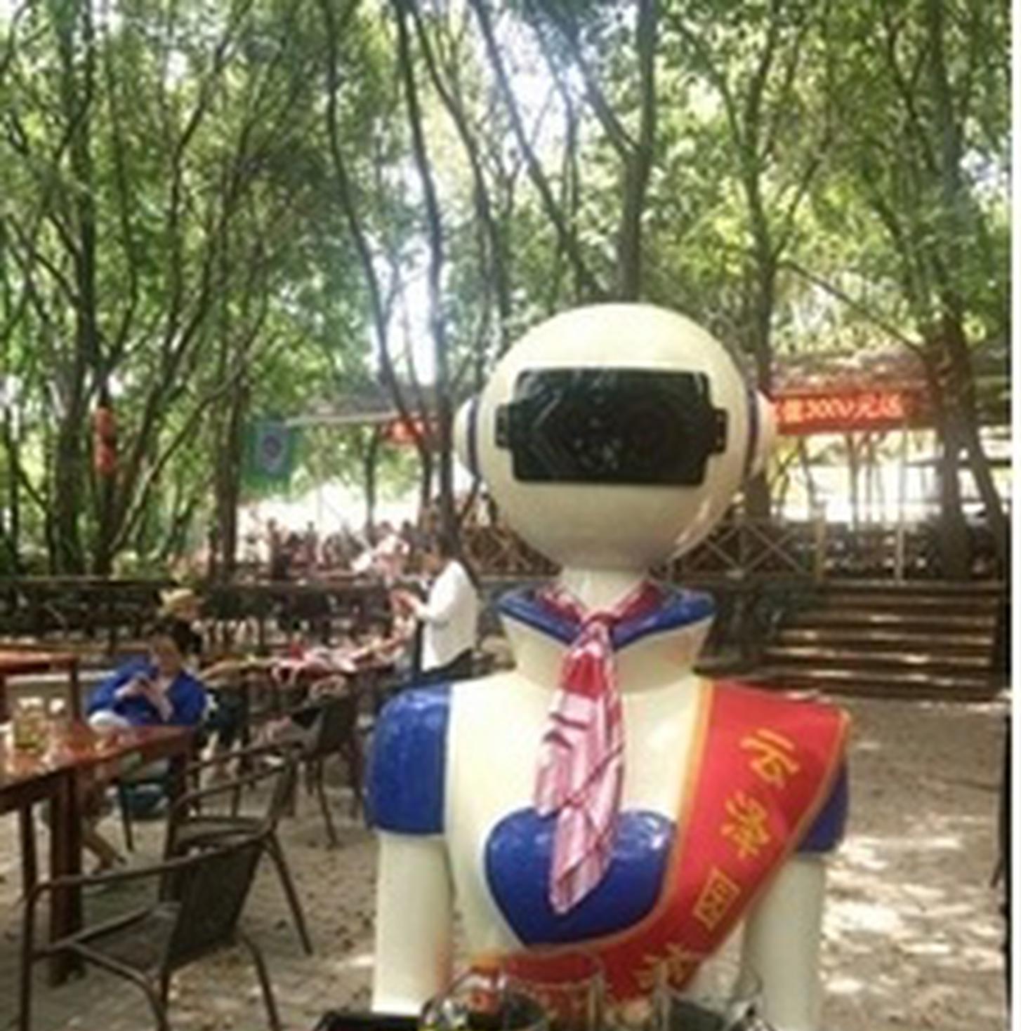 """""""机器人服务员""""现身山联村"""