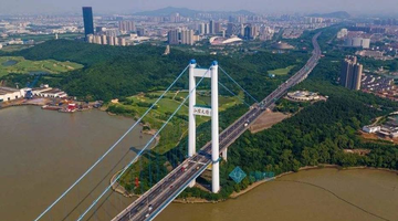江阴大桥上海方向桥面施工