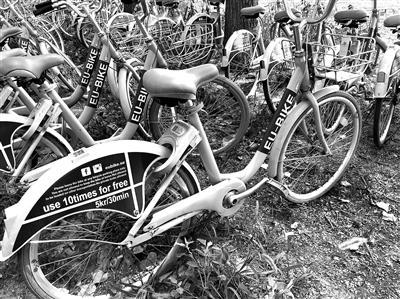 """曾经的""""酷骑""""单车被换上了英文标签,公司名字更换成一家在瑞典运营的公司"""