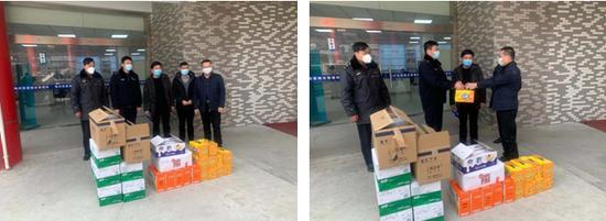 梅村工会向城管中队送来慰问物资