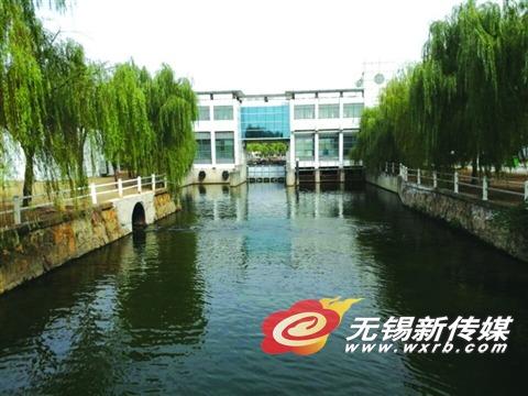 梅村污水厂尾水总排放口。