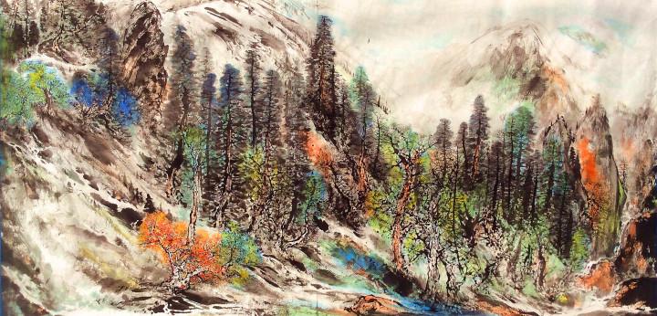新疆画家历时4年创作两幅百米画卷展巴州之美