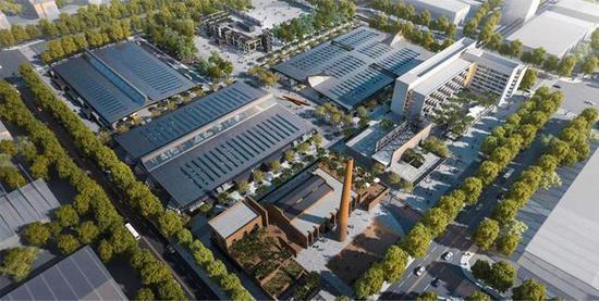 """光电玻璃助力国企老厂房改造升级,打造先锋建筑设计美学""""样板区"""""""