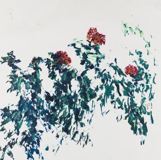 总领群芳 水墨纸本 2016年 180×180cm