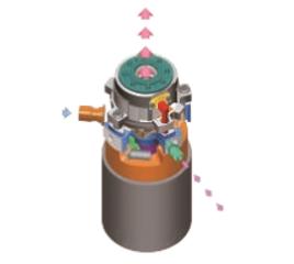 图2.喷气增焓涡旋压缩机结构