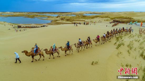 新疆尉犁夏日沙漠旅游热