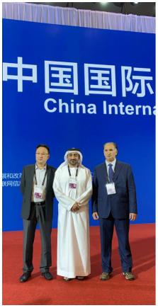 左一:中国欧洲经济技术合作协会副会长代军杨