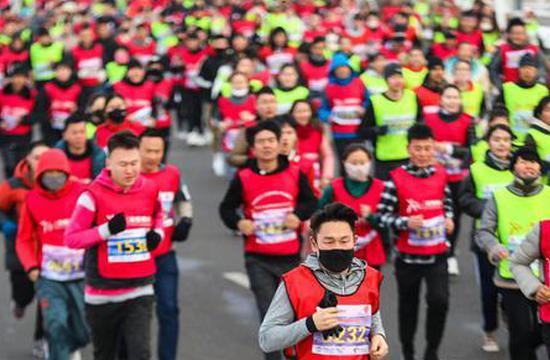 博州举办迷你马拉松比赛