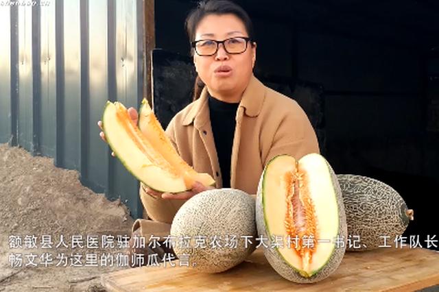 额敏县:土窖储存的伽师瓜开始销售啦