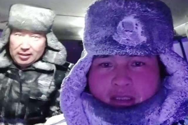 """风雪天救助被困群众 ,他们成最暖""""雪人""""!"""