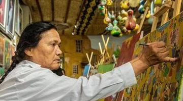 农民画里出年味 用画笔讲述幸福生活