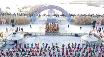 博湖县第十二届冰雪节开幕