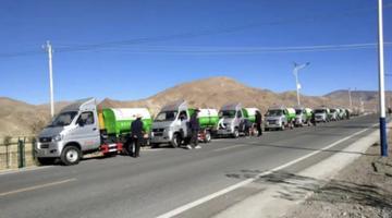 80辆东风轻型车服务西藏萨迦县
