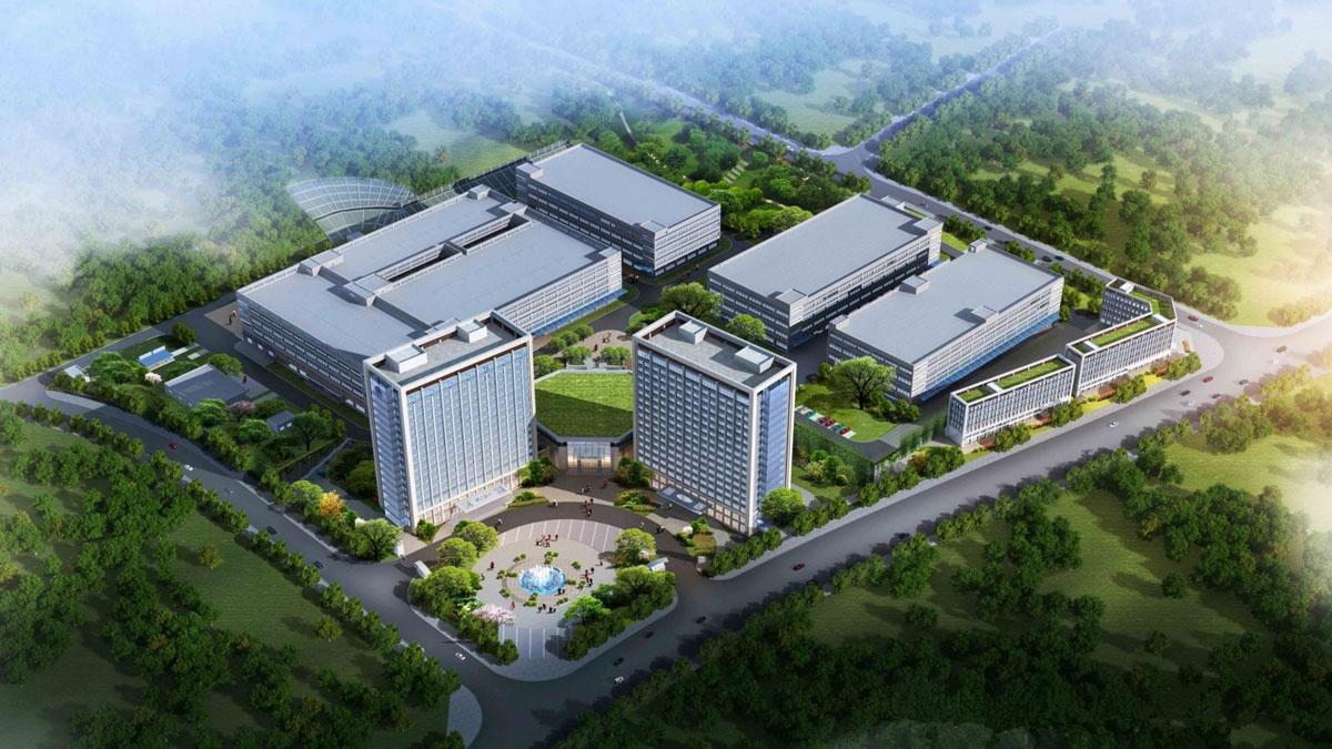 新厂区鸟瞰图,迎接未来,巨龙腾飞