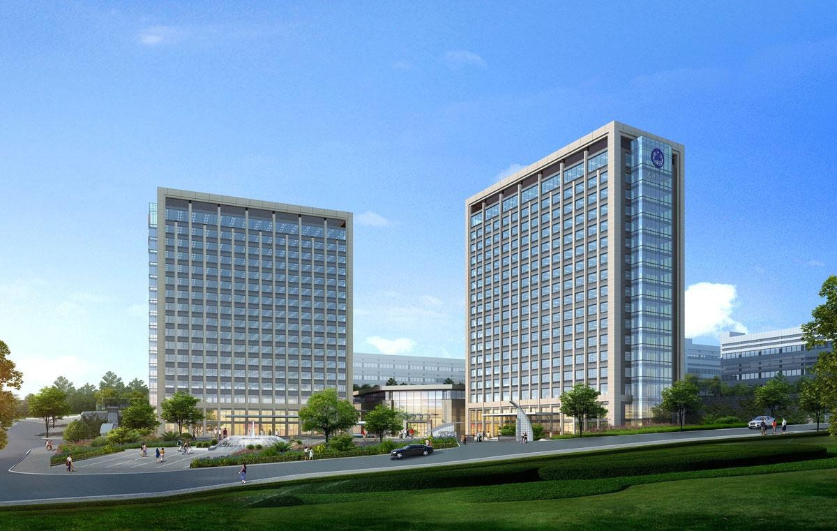 新建厂区入口广场透视图