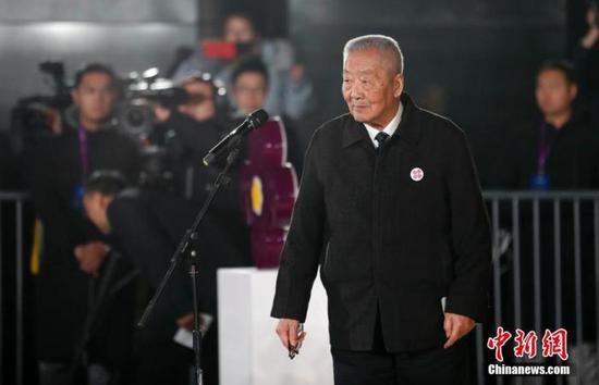 资料图:南京大屠杀幸存者葛道荣。中新社记者 杜洋 摄