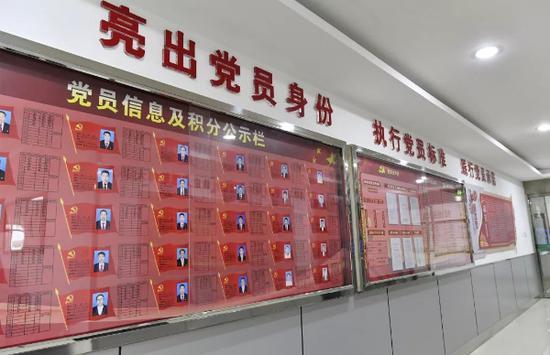党员信息及积分公示栏