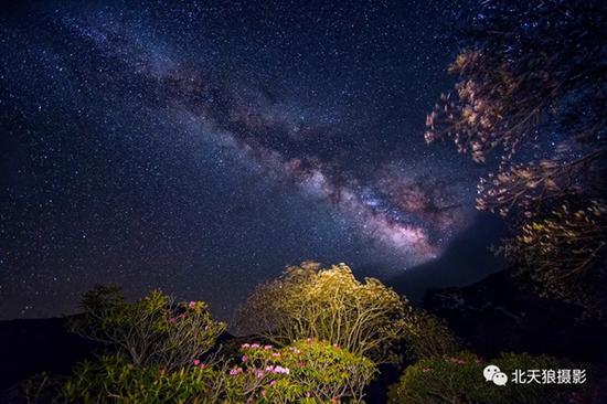 一条银河波浪宽 风吹杜鹃香两岸