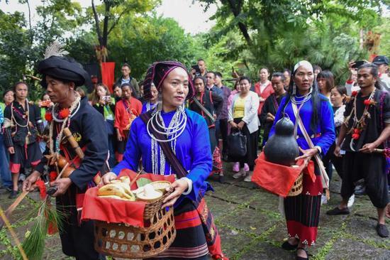 中国佤族新米节 张永强 摄