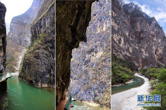峡谷景色。(新华摄影)