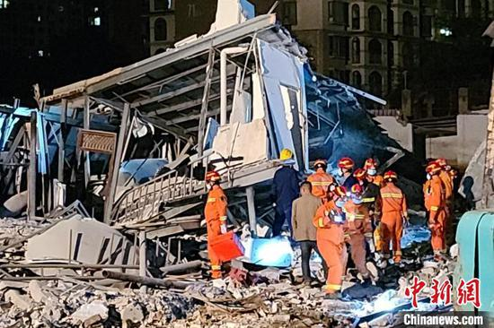 图为事故救援现场。昆明市消防救援支队供图