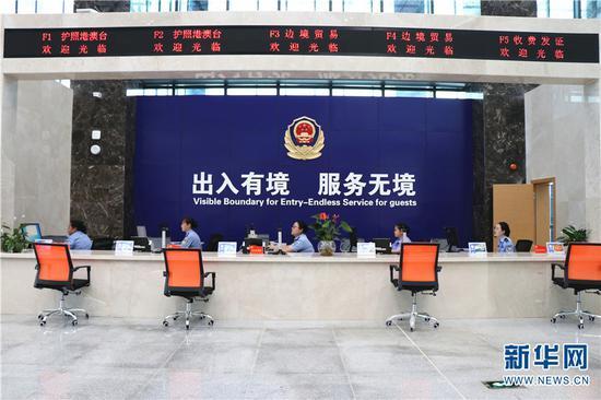 红河片区综合服务中心。新华网发(刘成洁 摄)