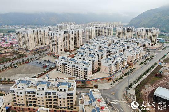 会泽县易地扶贫搬迁县城安置点。