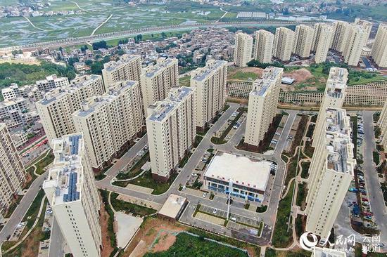 鲁甸县卯家湾易地扶贫搬迁安置区。