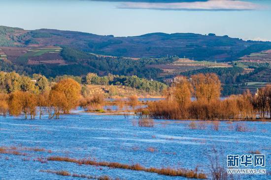 11月18日拍摄的念湖一景。