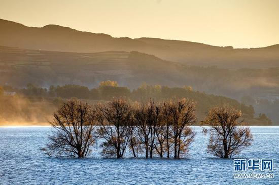 11月20日拍摄的念湖一景。