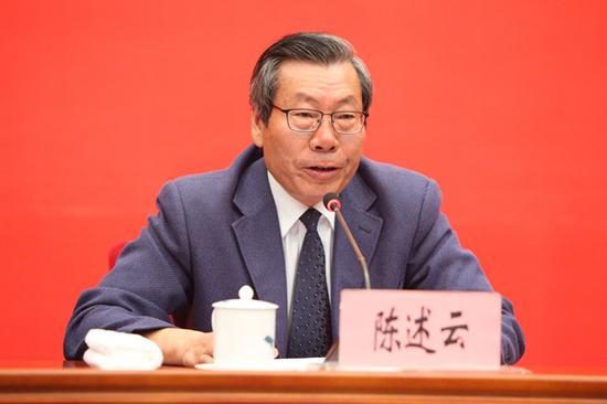 云南省文化和旅游厅党组成员、副厅长陈述云发布新闻(记者 赵嘉 摄影)