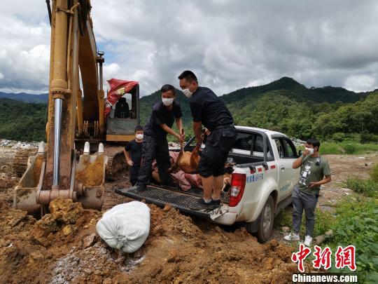 图为销毁野生动物死体及制品。江城县森林公安局供图