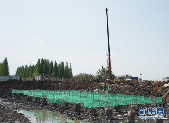 呈贡新城码头施工现场