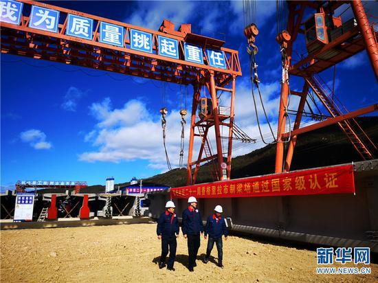 丽香铁路制梁场顺利通过国家级认证。