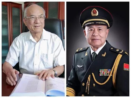 左:刘永坦 右:钱七虎