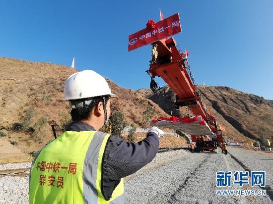 成昆铁路扩能改造工程永仁至广通段全线铺通