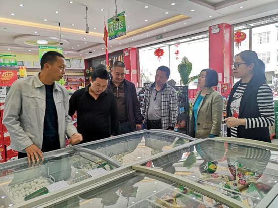 检查建水县南庄新家园购物中心