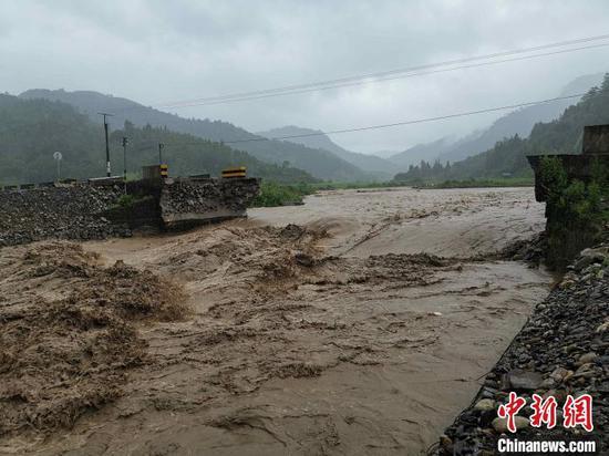 图为盈江县遭遇洪涝灾害。 盈江县人民政府新闻办供图 摄