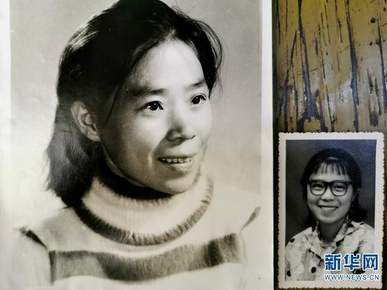 年轻时候的张桂梅(2019年10月17日摄)。新华网 丁凝 摄