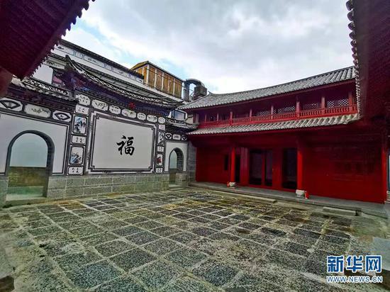 大理古城经修缮后的民居(1月19日摄)。新华网 冯雨钐 摄